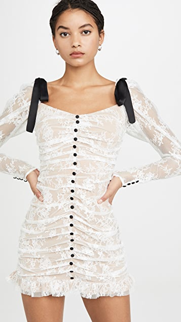 For Love & Lemons Beverly 裥褶迷你连衣裙