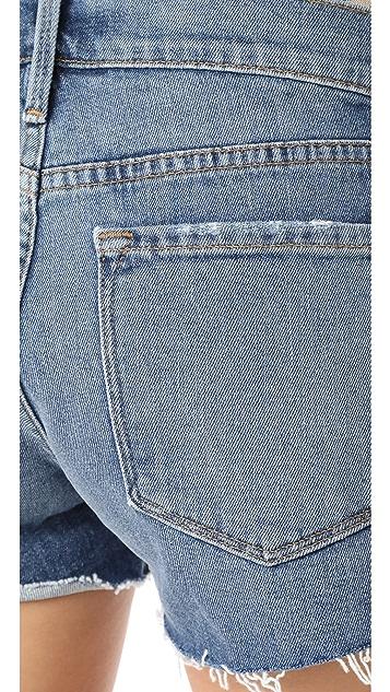 FRAME Le 郁金香形毛边短裤