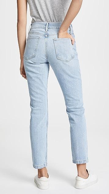 FRAME Le Sylvie 修身直筒传统牛仔裤