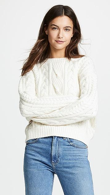 FRAME 绞花针织毛衣