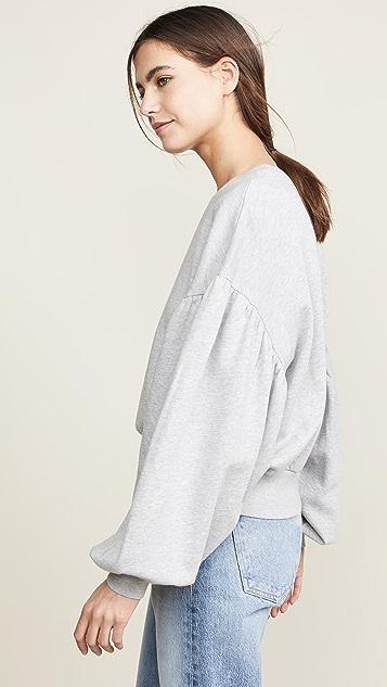 FRAME 抽褶袖运动衫