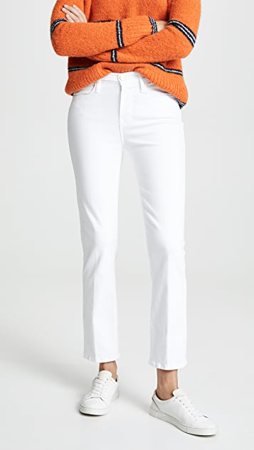 FRAME Le 高腰直筒牛仔裤