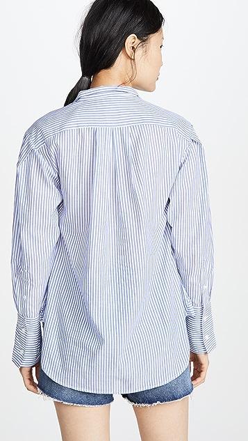 FRAME 褶皱简约衣领衬衣