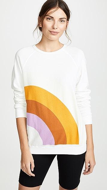 FREECITY 彩虹连肩运动衫
