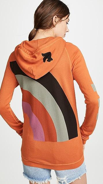 FREECITY Rainbow Jump 拉链连帽上衣