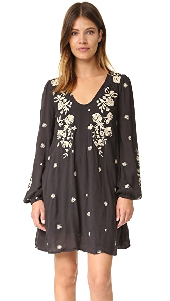 Free People Sweet Tennessee 刺绣迷你连衣裙