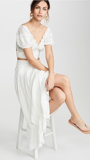 Free People Ella 衬衫和半身裙套装