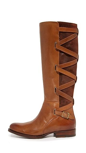 Frye Jordan 系带式高筒靴