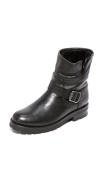 Frye Natalie 连毛羊皮工程短靴