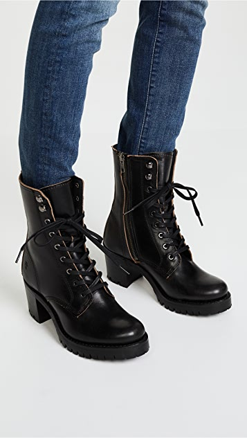 Frye Sabrina 军旅高跟靴
