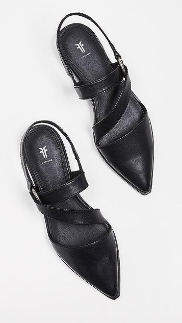 Frye Kenzie 绑带平底鞋