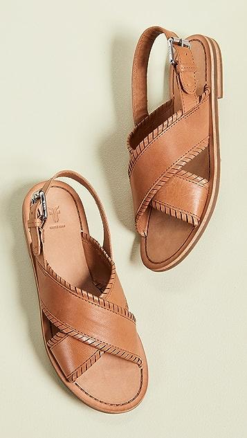 Frye Robin 羽毛交叉凉鞋