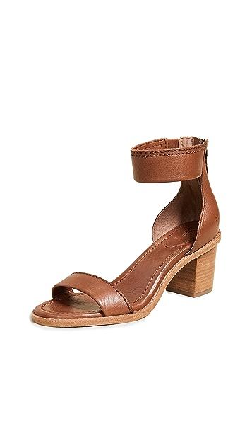 Frye Brielle 背面拉链凉鞋