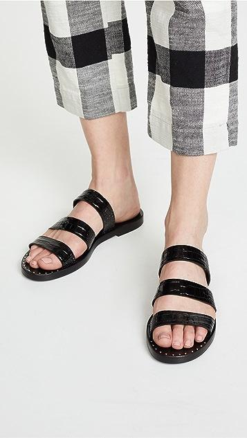 Freda Salvador 鸢尾花绑带凉鞋