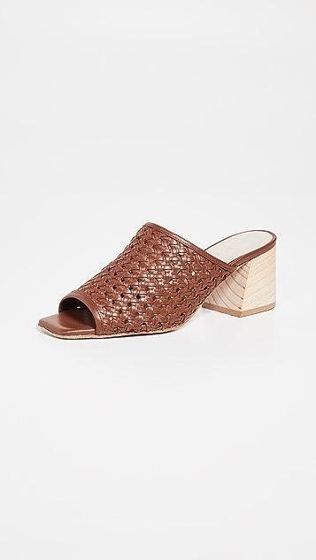 Freda Salvador Pia 梭织粗跟凉鞋