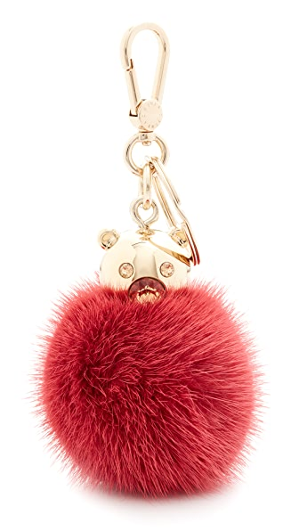 Furla 泡泡钥匙环皮毛绒球