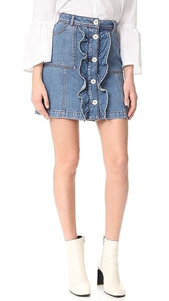 Ganni Benedict 牛仔布半身裙