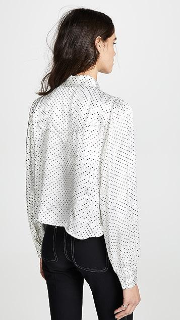GANNI 厚实缎面女式衬衫