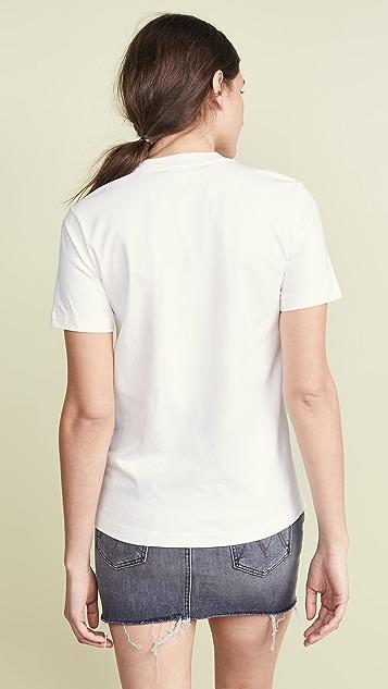 GANNI 轻质平针织棉 T 恤