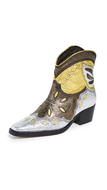 GANNI Low Texas 靴子