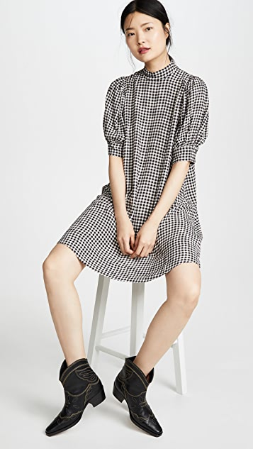 GANNI 印花绉纱连衣裙