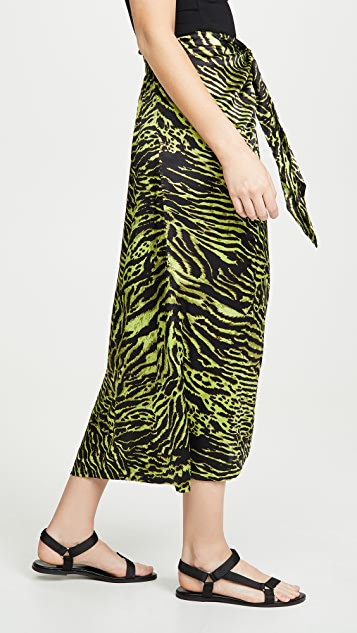 GANNI 弹性缎面半身裙