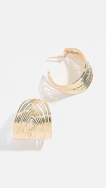 GAS Bijoux Creole 波纹圈式耳环