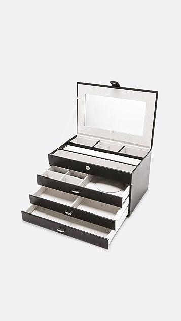 礼物精品馆 4 Level 皮革珠宝盒