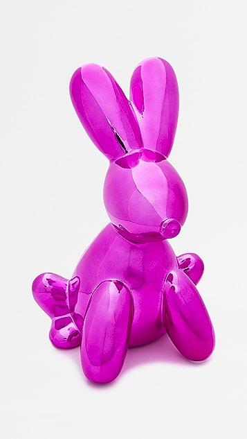 礼物精品馆 气球兔子存钱罐
