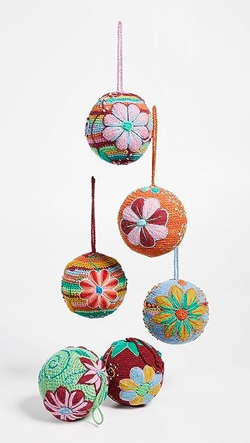 礼物精品馆 针织球形装饰摆件套装