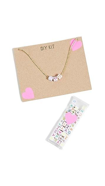 礼物精品馆 儿童字母项链套装
