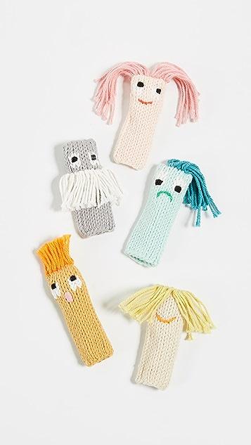 礼物精品馆 巴拉巴拉儿童手指木偶 - 5 个装