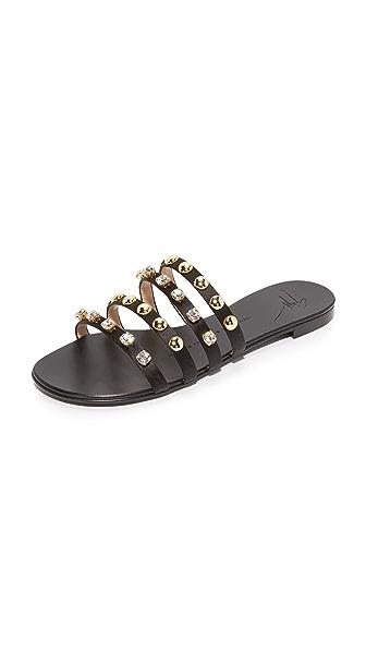 Giuseppe Zanotti 系带式平底凉鞋