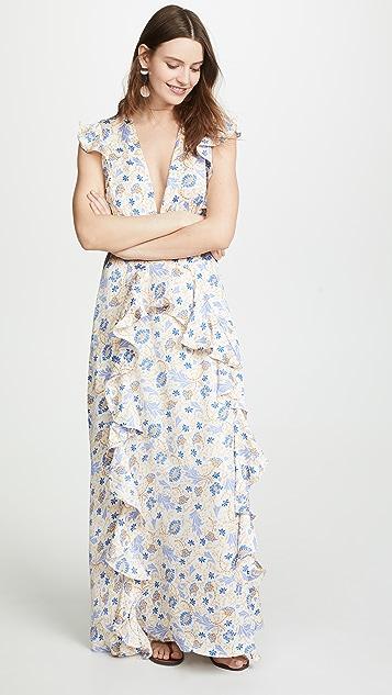 迷人无限 花色印花连衣裙