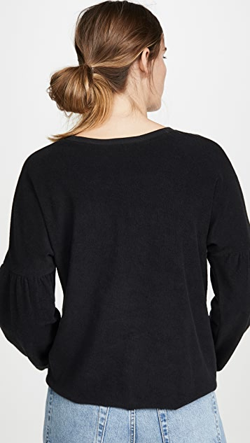 Goldie 垂褶肩运动衫