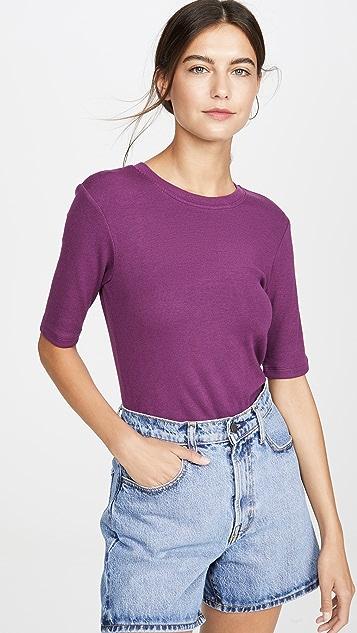 Goldie 罗纹中袖 T 恤