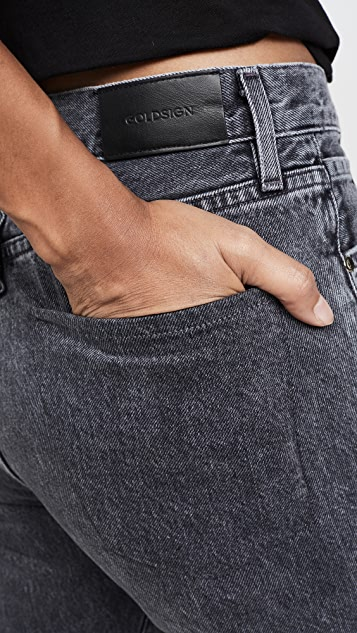 GOLDSIGN Benefit 高腰休闲直脚牛仔裤