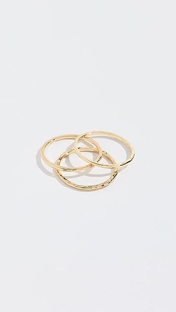 Gorjana 3 件式戒指