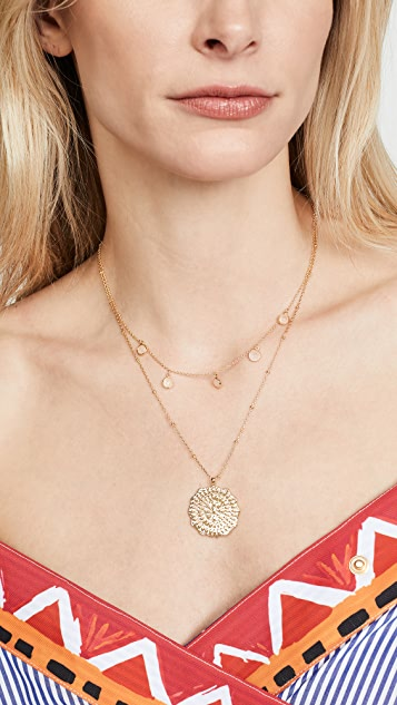 Gorjana 镶嵌硬币项链