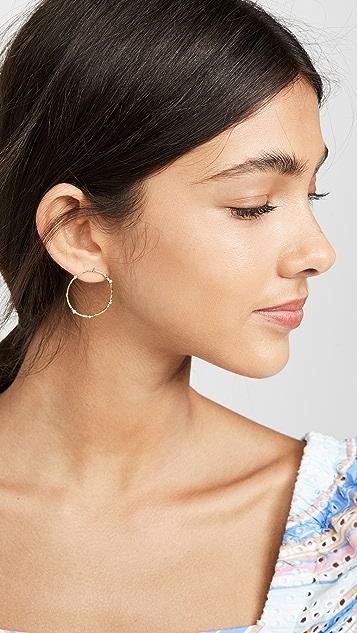 Gorjana Cleo 圈式耳环