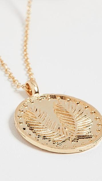 Gorjana 棕榈硬币项链