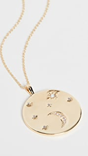 Gorjana Luna 硬币坠饰项链