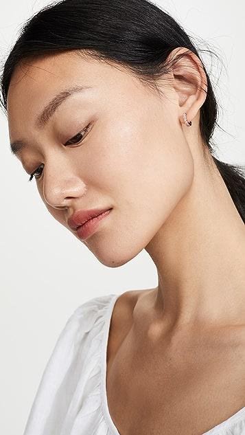 Gorjana Madison 闪光色贴耳耳环