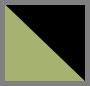 黑色光泽绿/灰色