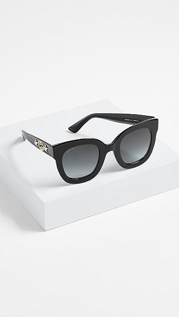 Gucci Urban Stars 矩形太阳镜