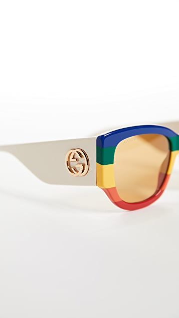 Gucci Sylvie 醒目猫眼太阳镜