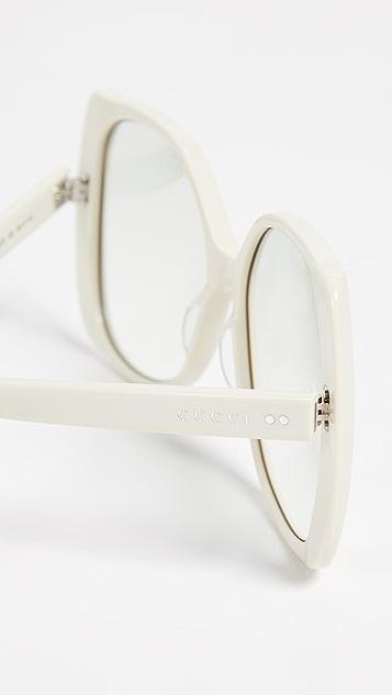 Gucci 手工制作醋酸纤维塑料太阳镜