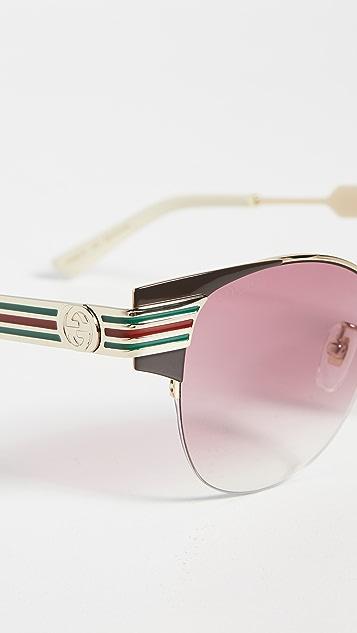 Gucci Vintage Web 猫眼太阳镜