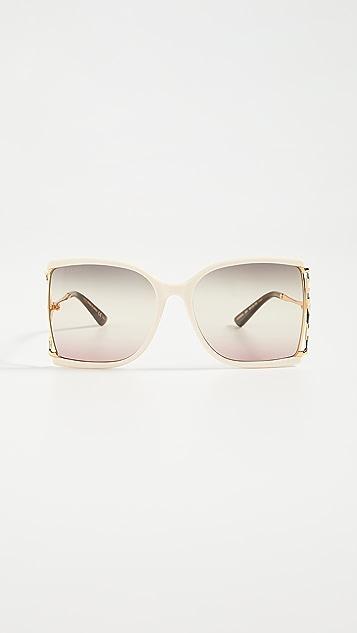 Gucci Feminine Fork 方形太阳镜