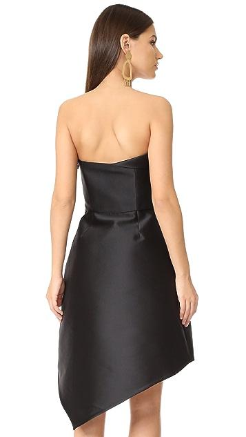 Halston Heritage 无肩带有型连衣裙